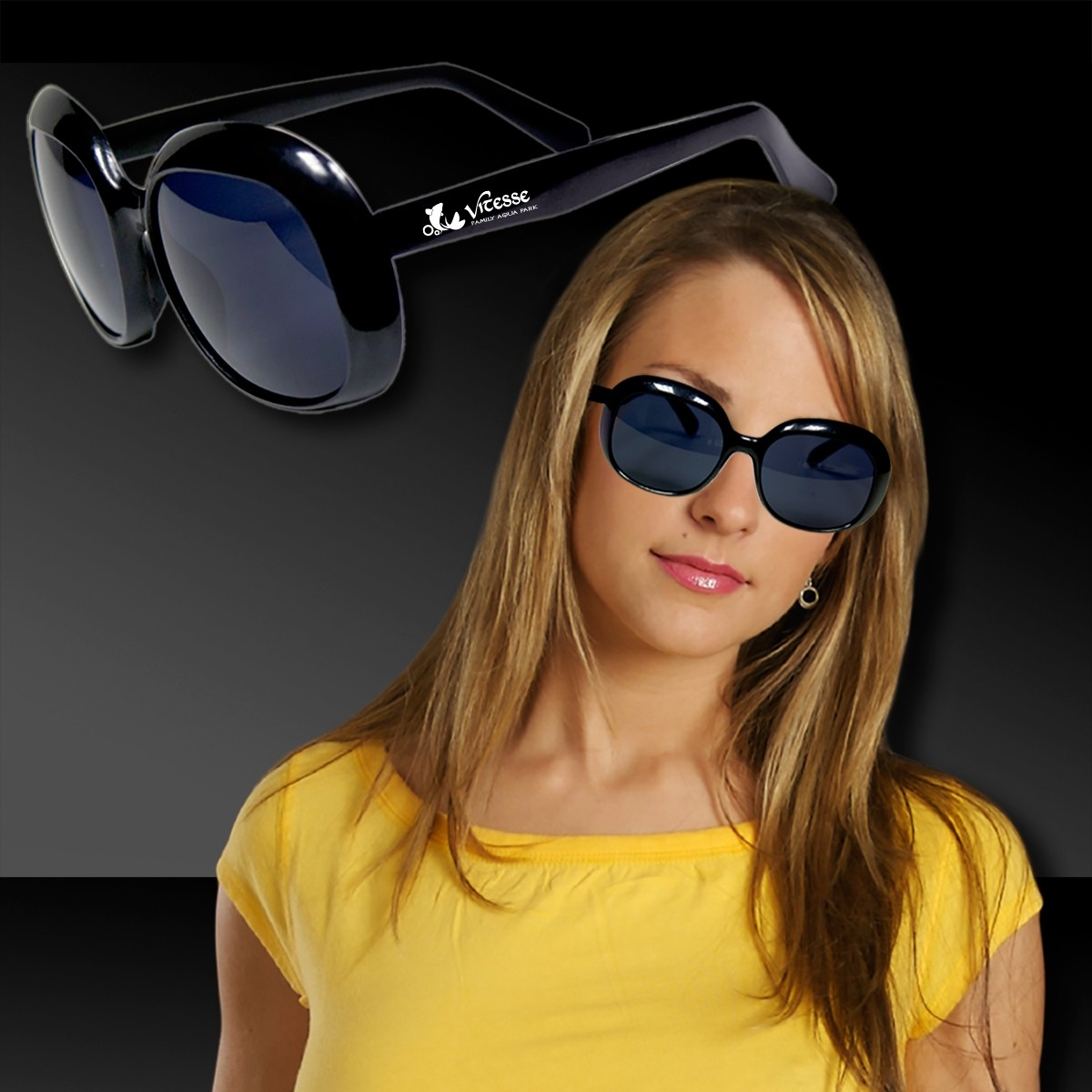 WOMEN'S BLACK FASHION SUNGLASS