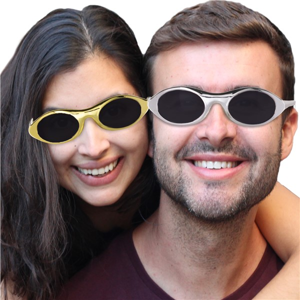 GOLD & SILVER PARTY SUNGLASSES - 12 PACK