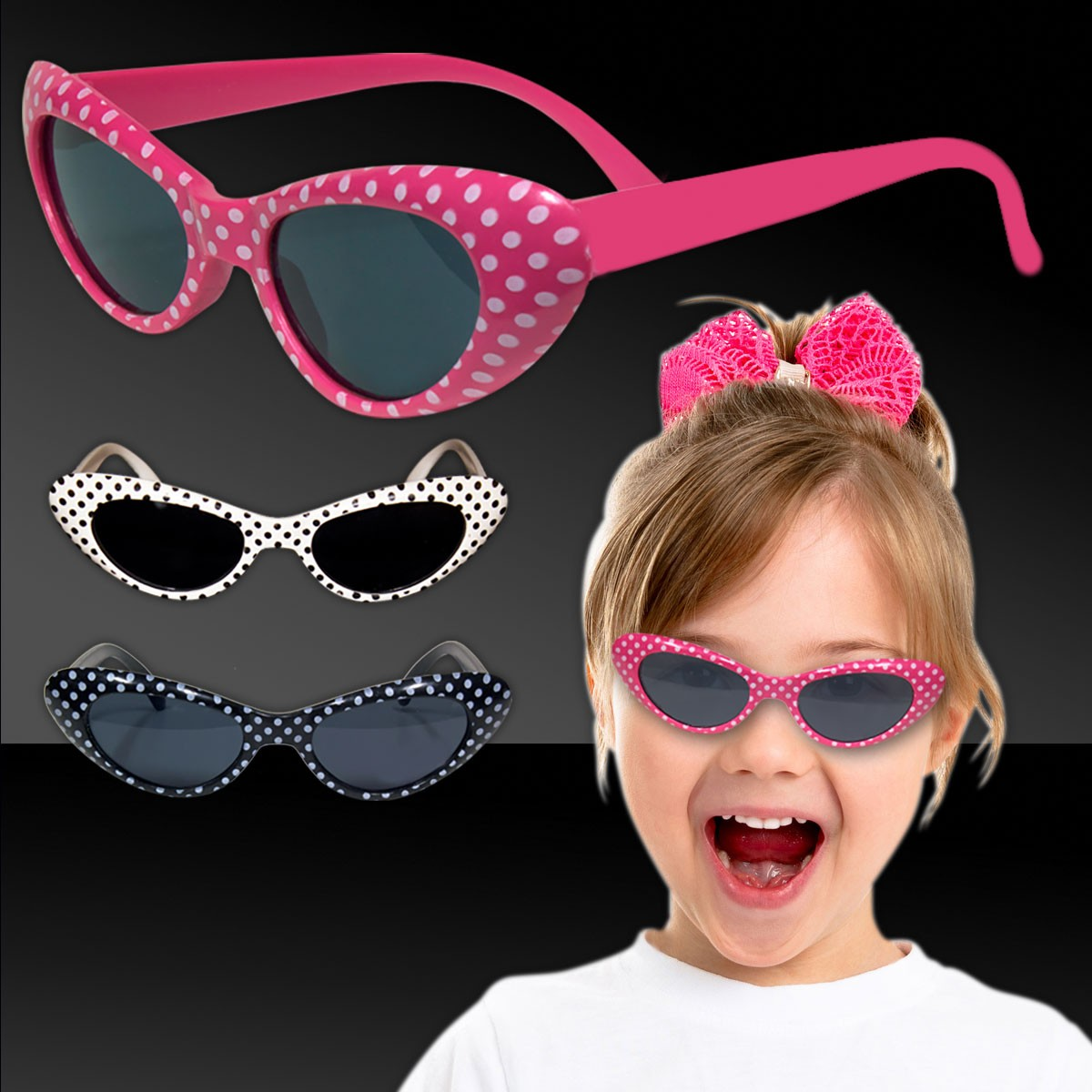 ASSORTED POLKA DOT KIDS' SUNGLASSES