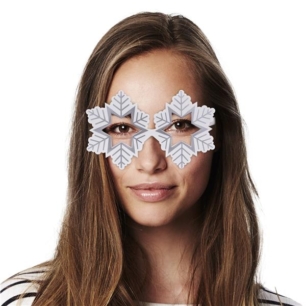 WHITE SNOWFLAKE SUNGLASSES