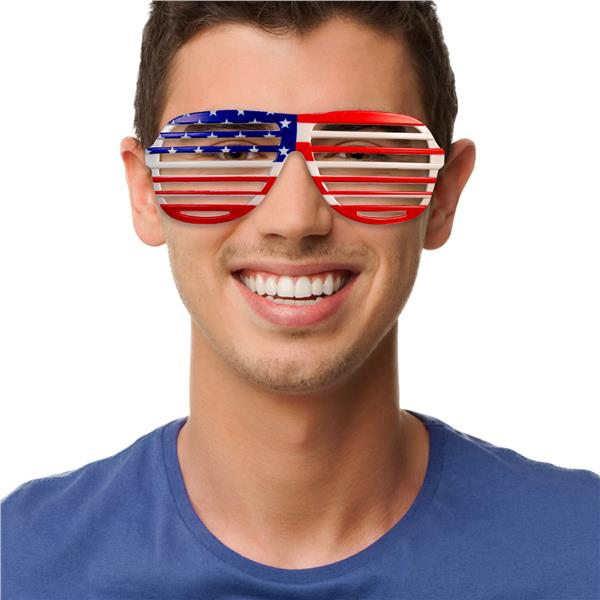 PATRIOTIC SLOTTED GLASSES