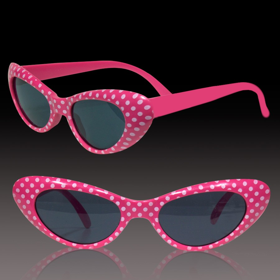 PINK POLKA DOT KIDS' SUNGLASSES