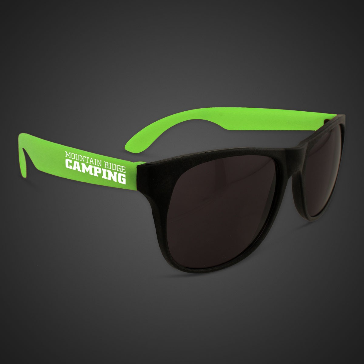 NEON SUNGLASSES WGREEN ARMS