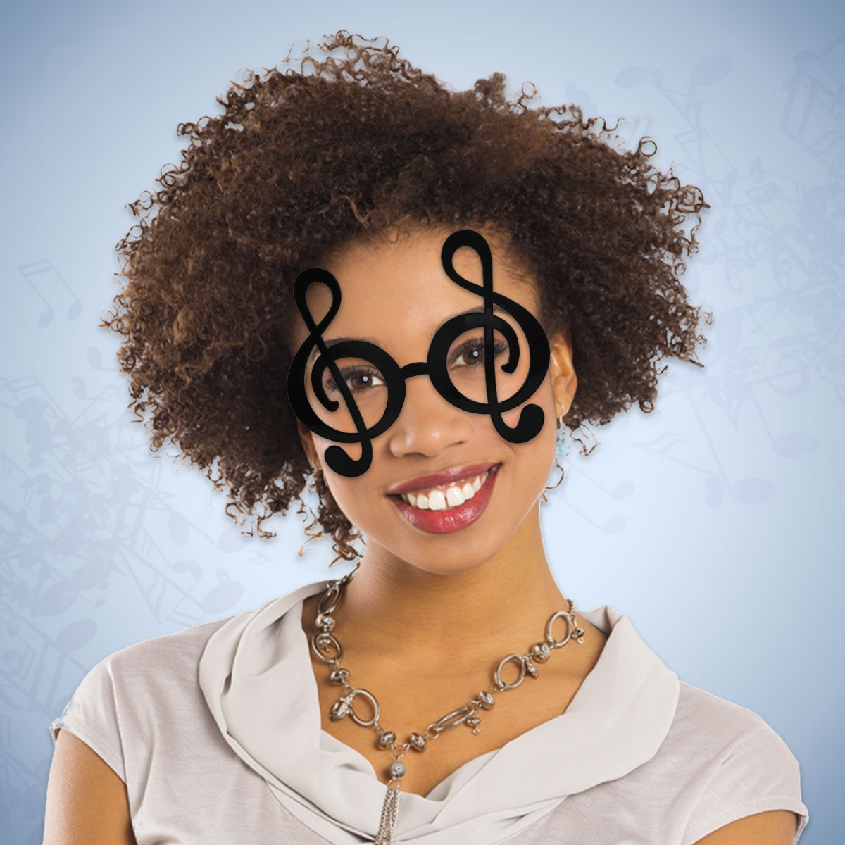 BLACK TREBLE CLEF GLASSES