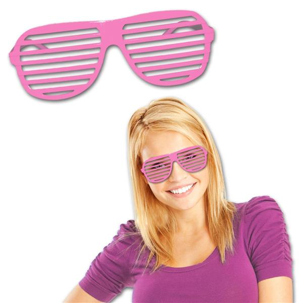 PINK SLOTTED GLASSES