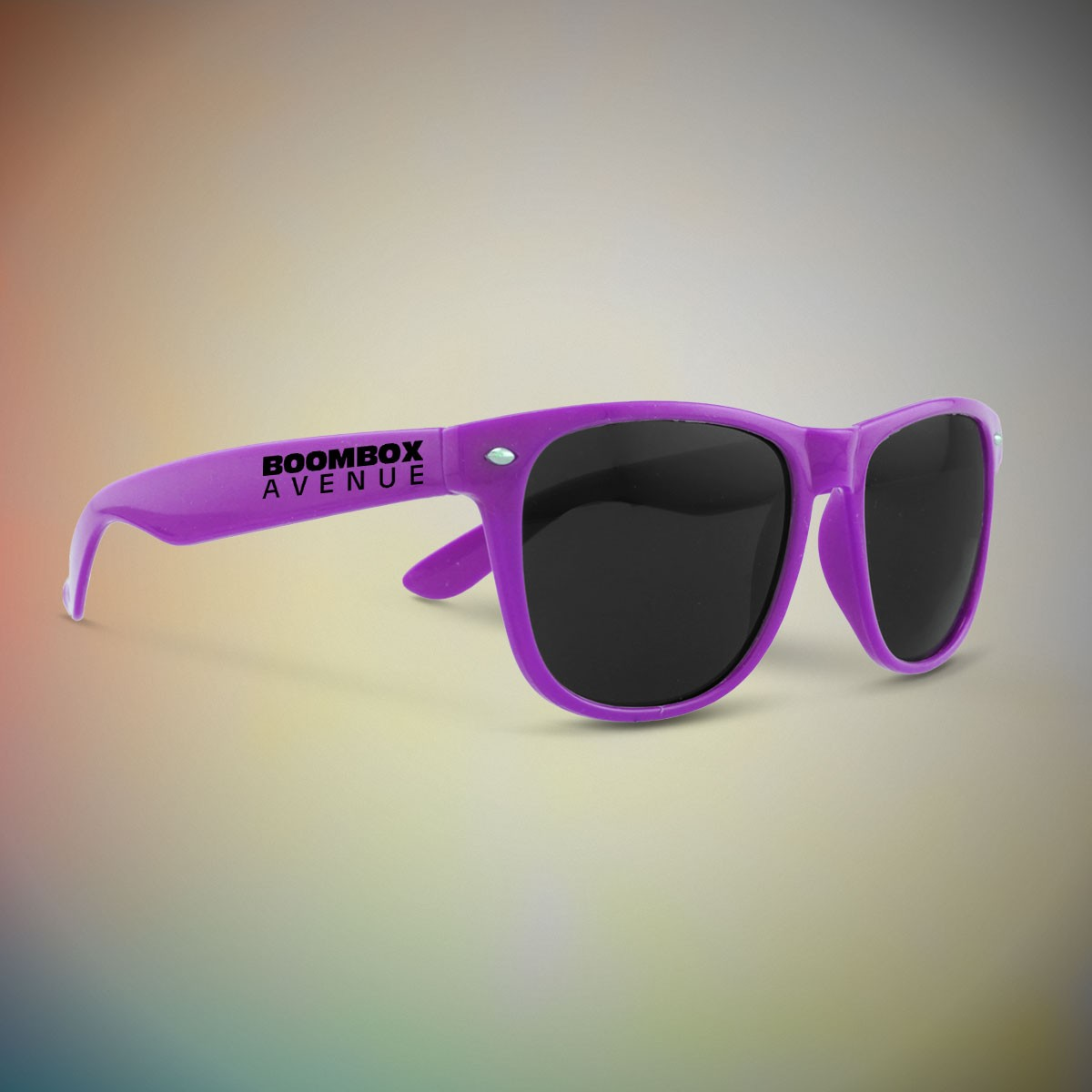 PURPLE FRAME RETRO SUNGLASSES