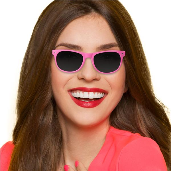 PINK FRAME RETRO SUNGLASSES