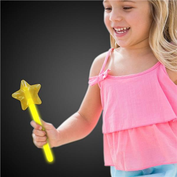 YELLOW GLOW STAR WAND - RETAIL