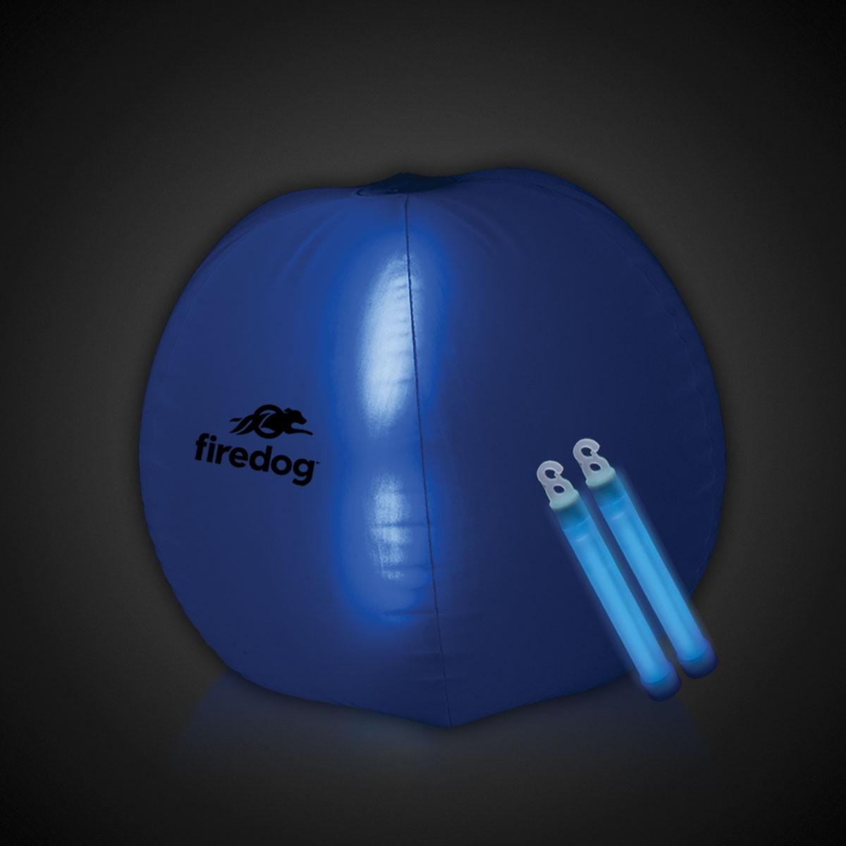 24 INCH GLOW BEACHBALL W2 BLUE