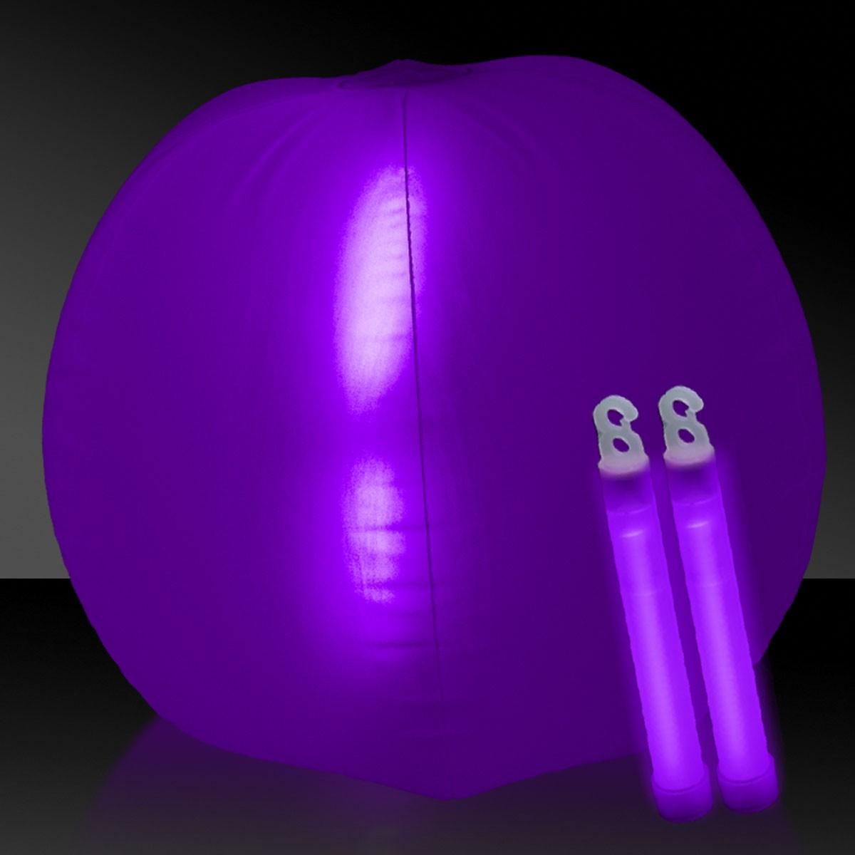 24 INCH GLOW BEACHBALL W2 PURPLE