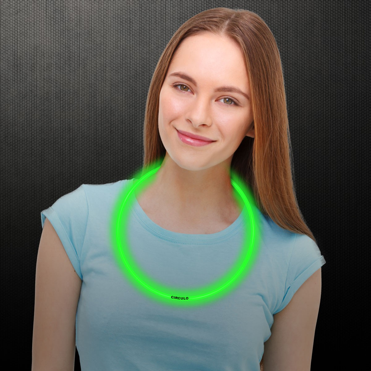 22 INCH GREEN GLOW NECKLACES