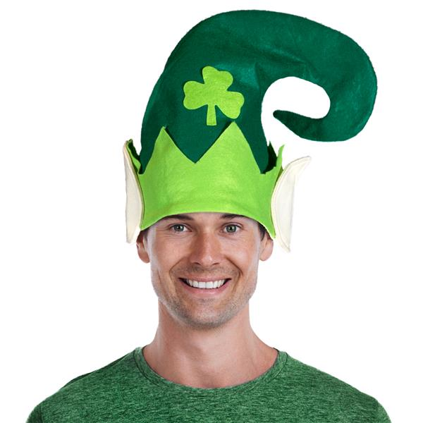 GREEN SHAMROCK FELT HAT WEARS