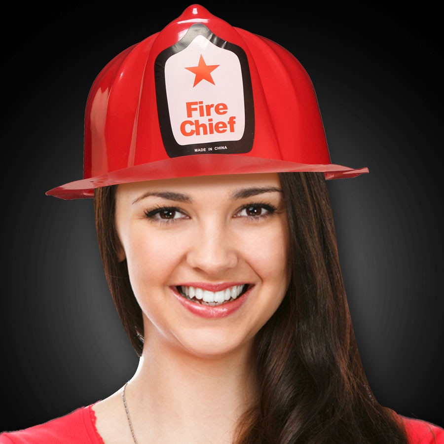 RED FIREFIGHTER HAT-WPRINT LB
