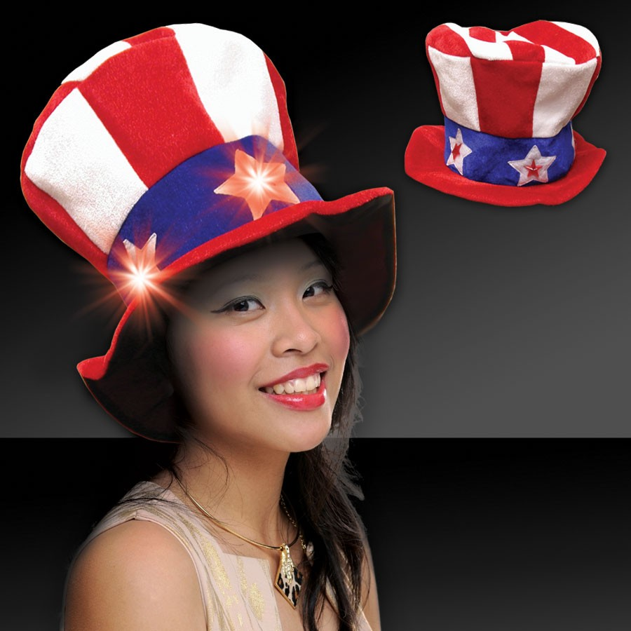 LIGHT UP UNCLE SAM HAT