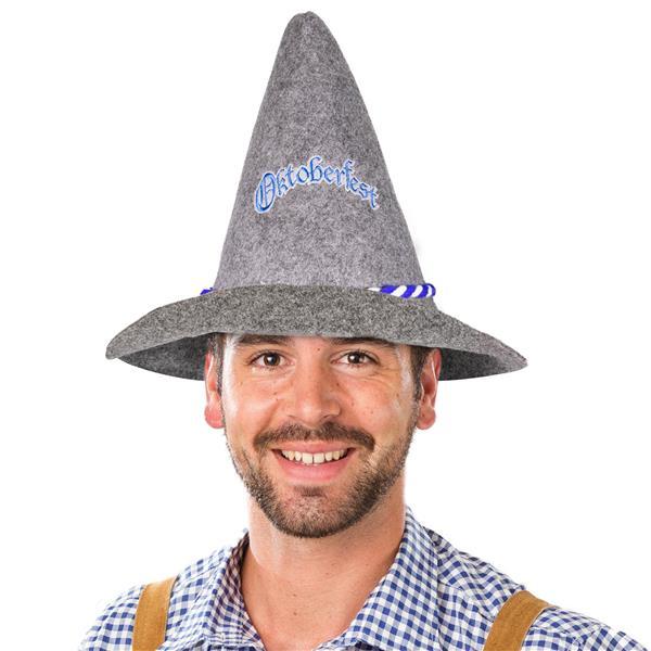 OKTOBERFEST HAT- GRAY FELT