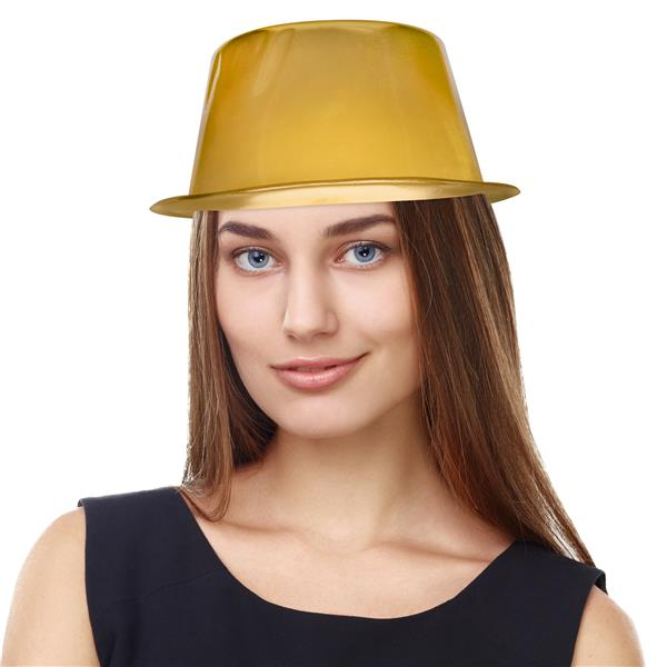 GOLD METALLIC TOP HAT
