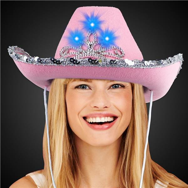 LITE-UP TIARA PINK COWBOY HAT