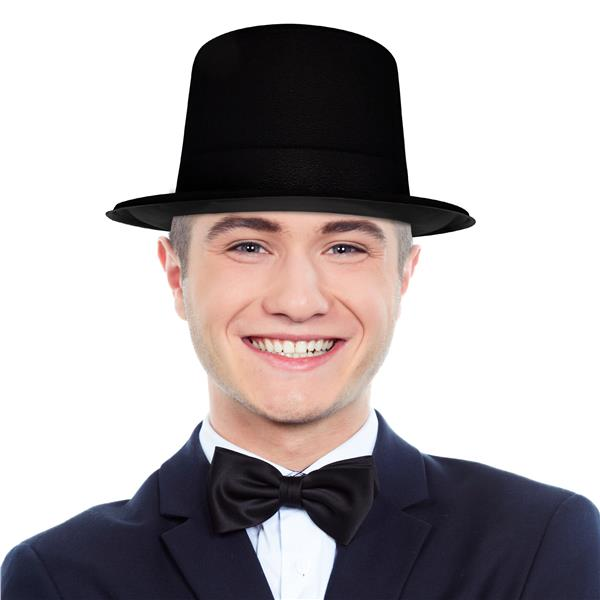 BLACK VELOUR TOP HAT