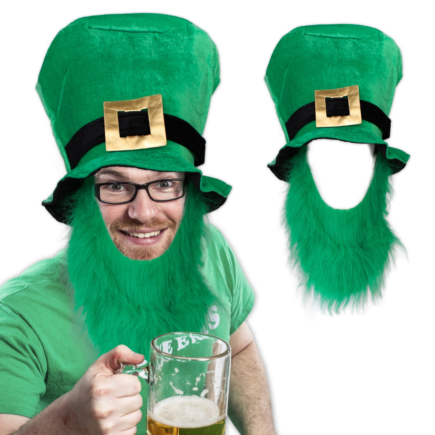 ST. PATS PLUSH GREEN TOP HAT