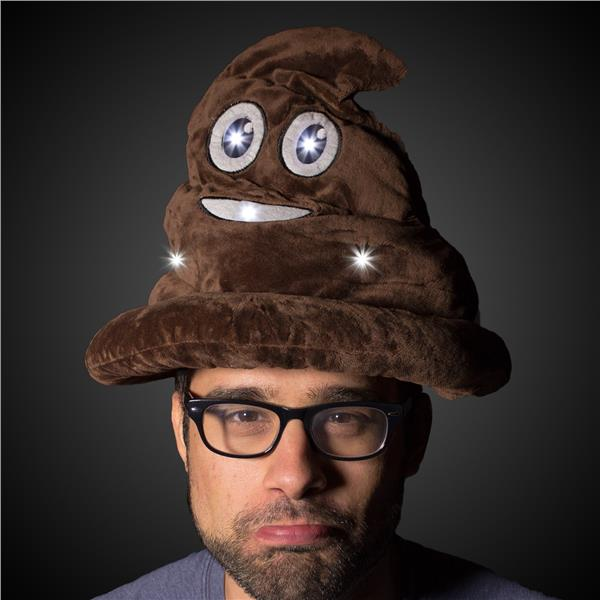 EMOTICON LED POOP HAT