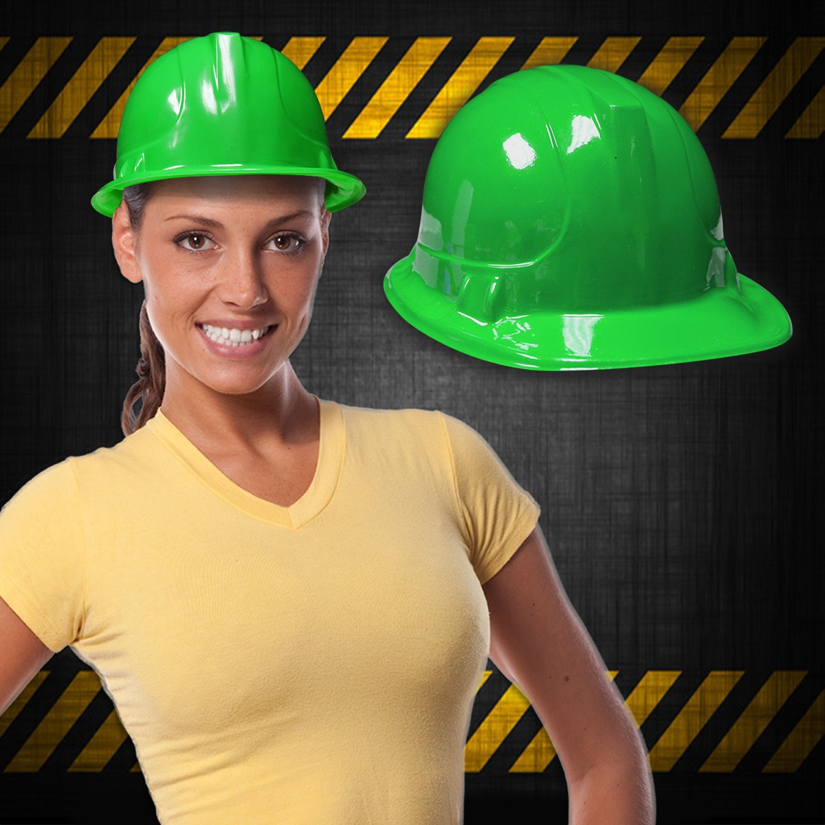 GREEN CONSTRUCTION HAT