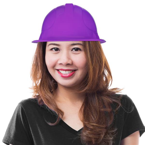 PURPLE CONSTRUCTION HAT