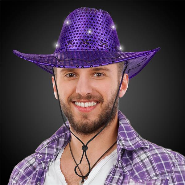 PURPL SEQUIN LU COWBOY HAT W