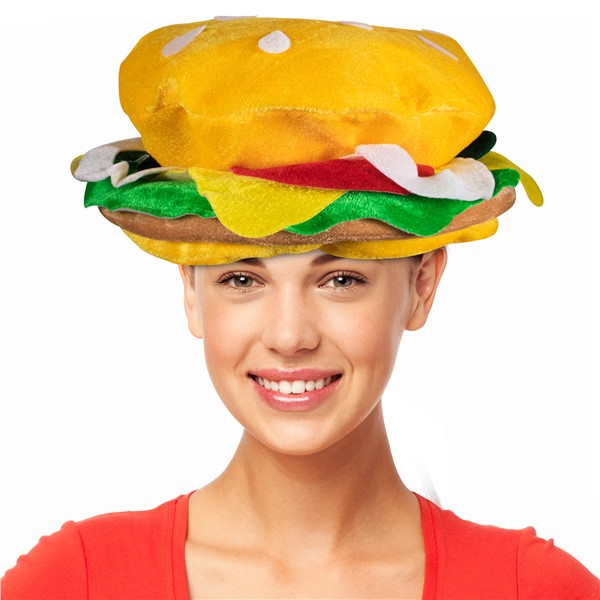 CHEESEBURGER HAT - ADULT SIZE