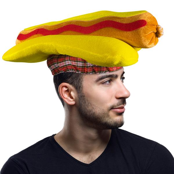 HOT DOG HAT - ADULT SIZE