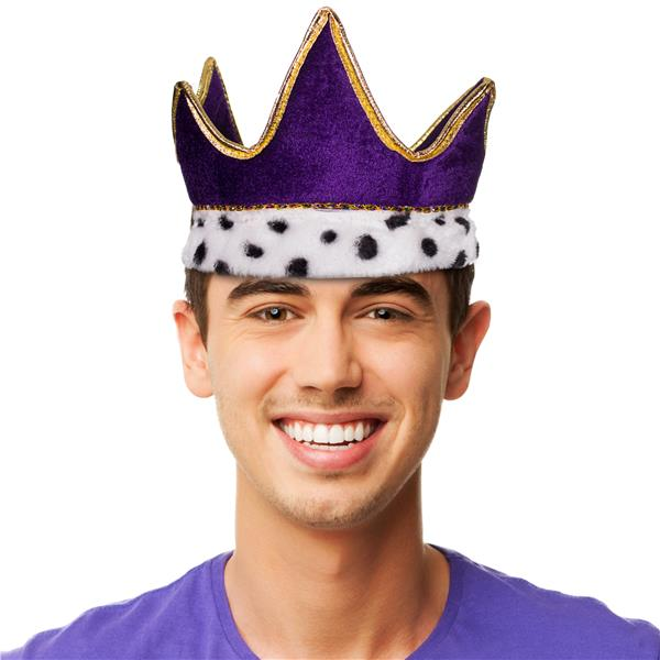 PLUSH PURPLE ROYAL CROWN