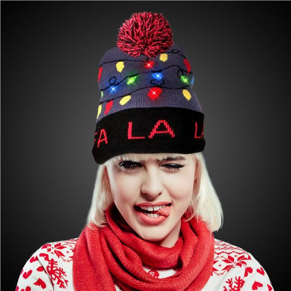 FA LA LA LED KNIT BEANIE HAT