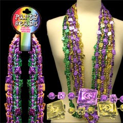 48 INCH CARDS & DICE BEAD NECKLACES