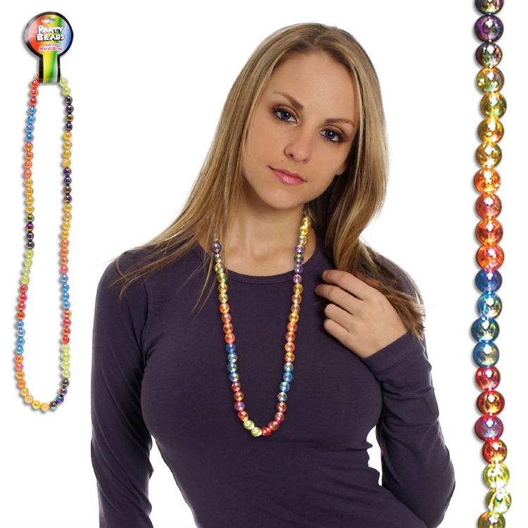 42 INCH SECTION RAINBOW CLEAR BEAD