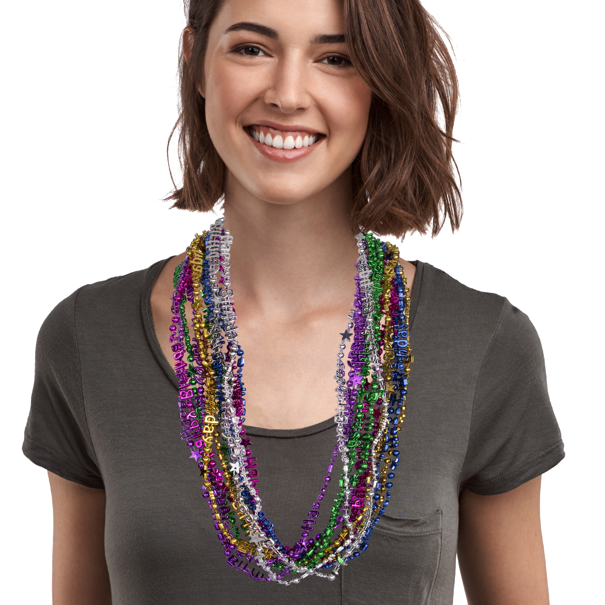 33 INCH HAPPY BIRTHDAY BEAD NECKLACE