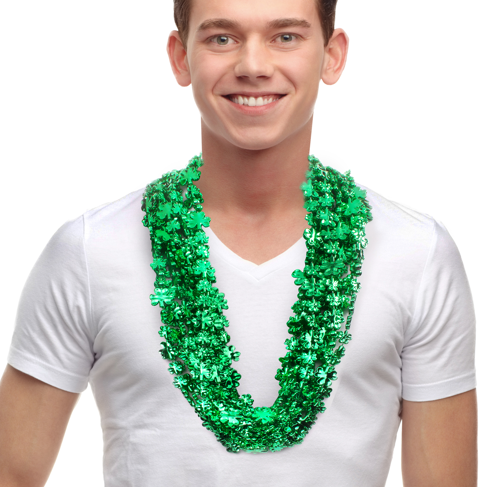 33 INCH SHAMROCK BEAD NECKLACE
