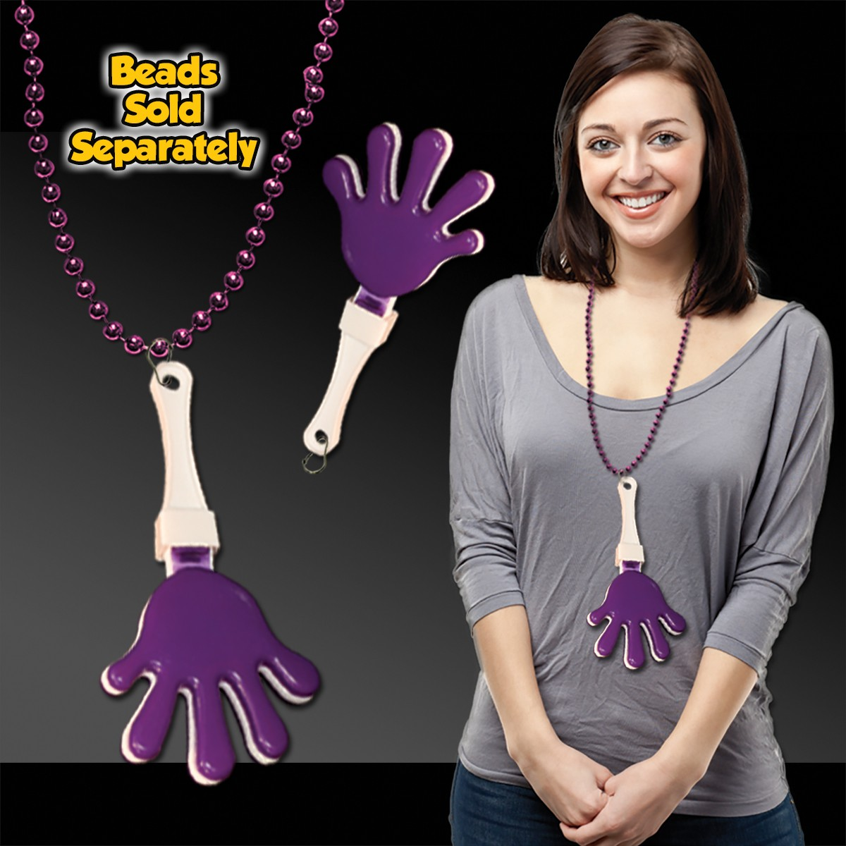 PURPLEWHTPURPLE HANDCLAPPER