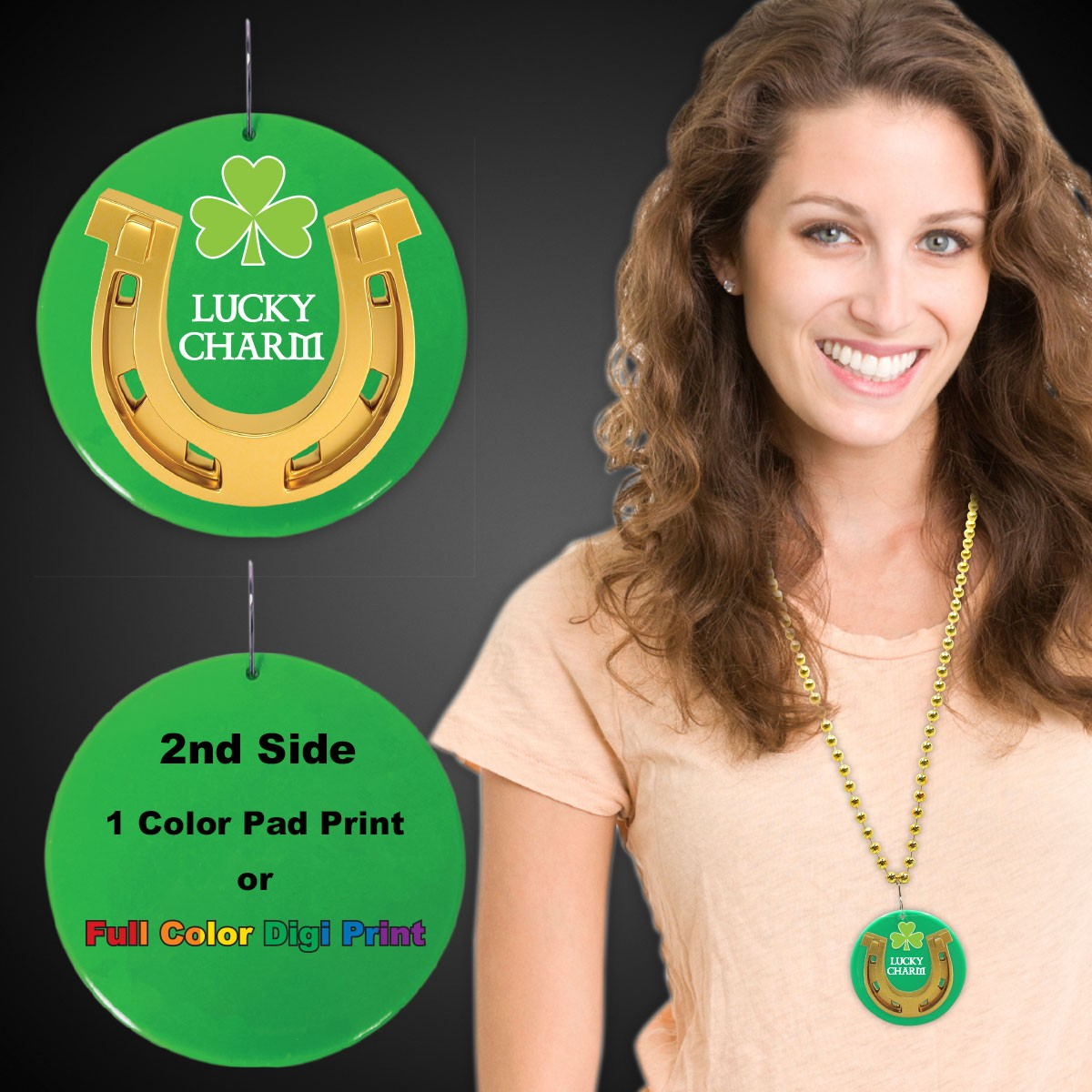 2.5 INCH LUCKY CHARM PRINTD