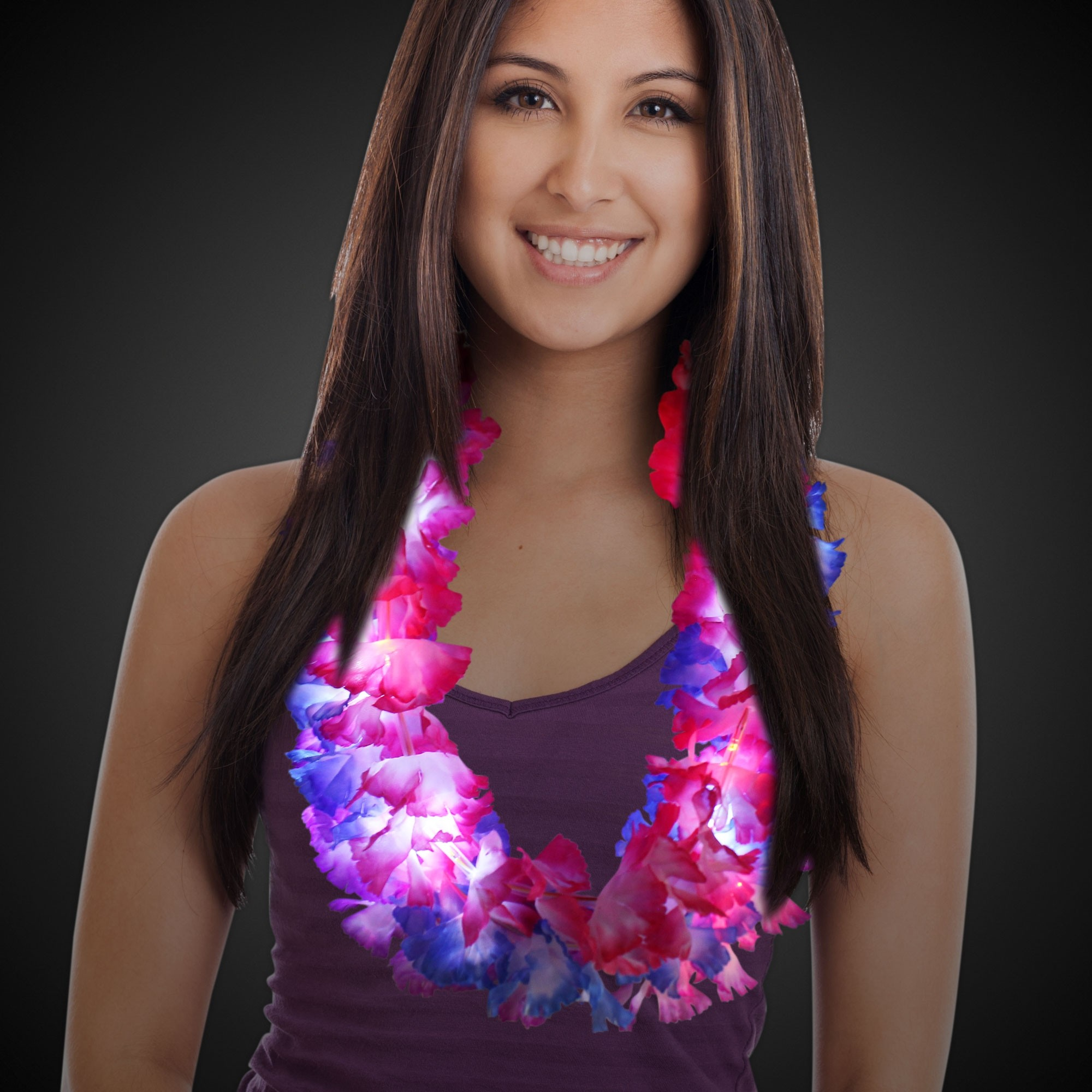33 LITE UP FLOWER LEI ASSORTED