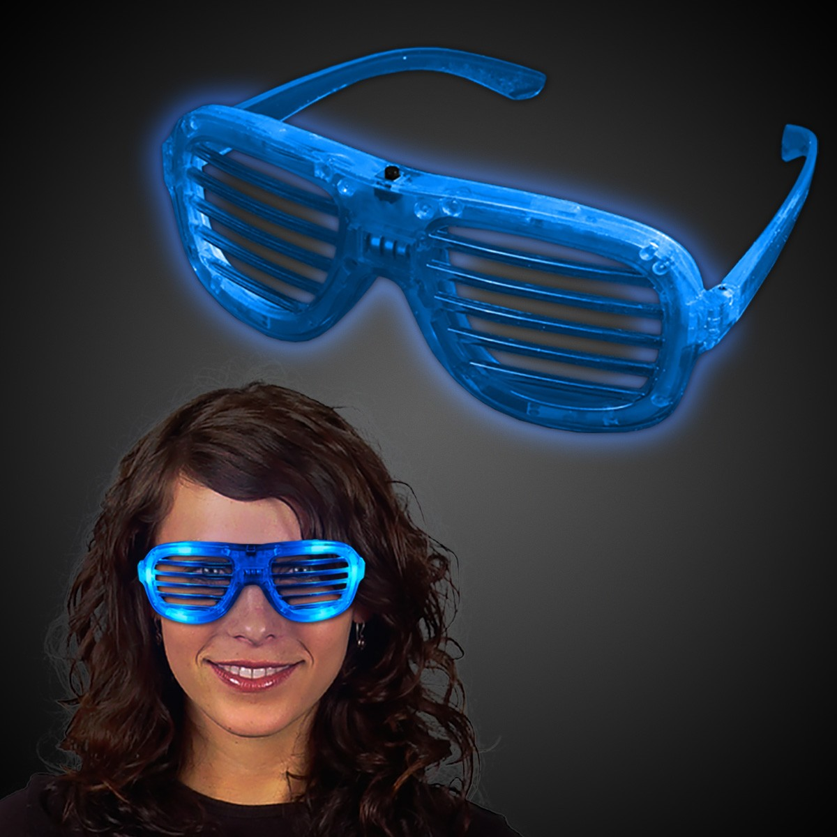 BLUE LED SLOTTED GLASSES