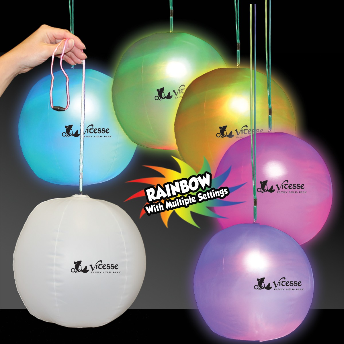 12 INCH LITE-UP BEACH BALL-INFLATE