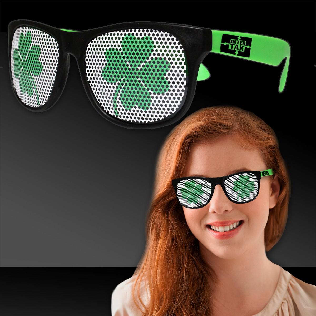 Shamrock Neon Green Billboard Sunglasses