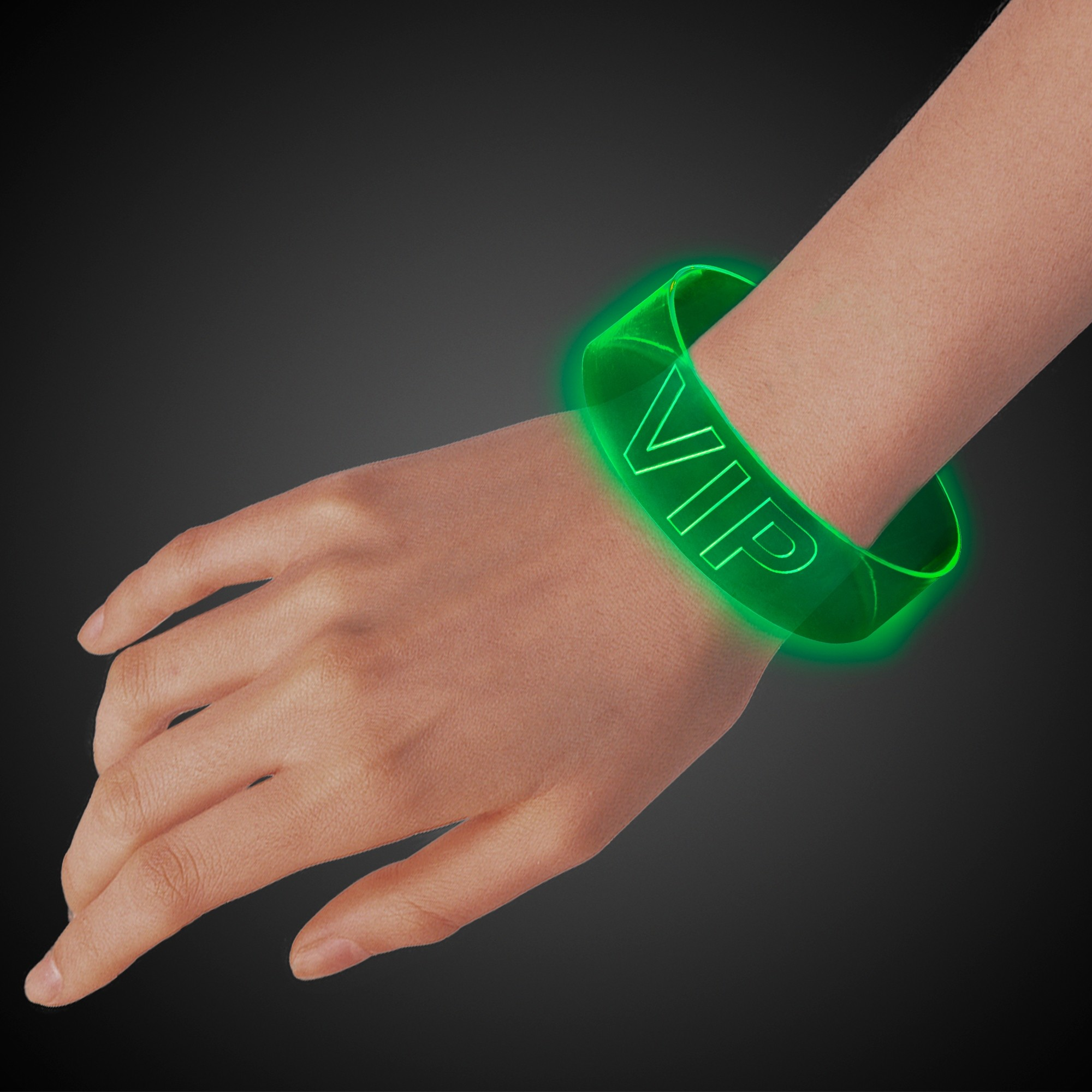 GREEN LED MAGNETIC BRACELET