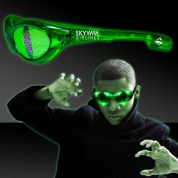 CAT EYES PRINT BILLBOARD JADE LED SUNGLASSES