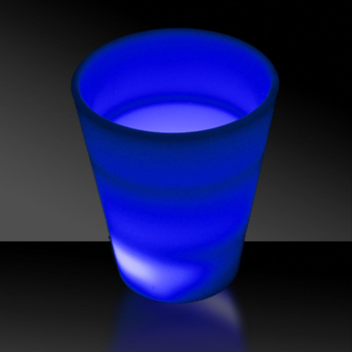 BLUE 2 OZ.NEON LOOK SHOT GLASS