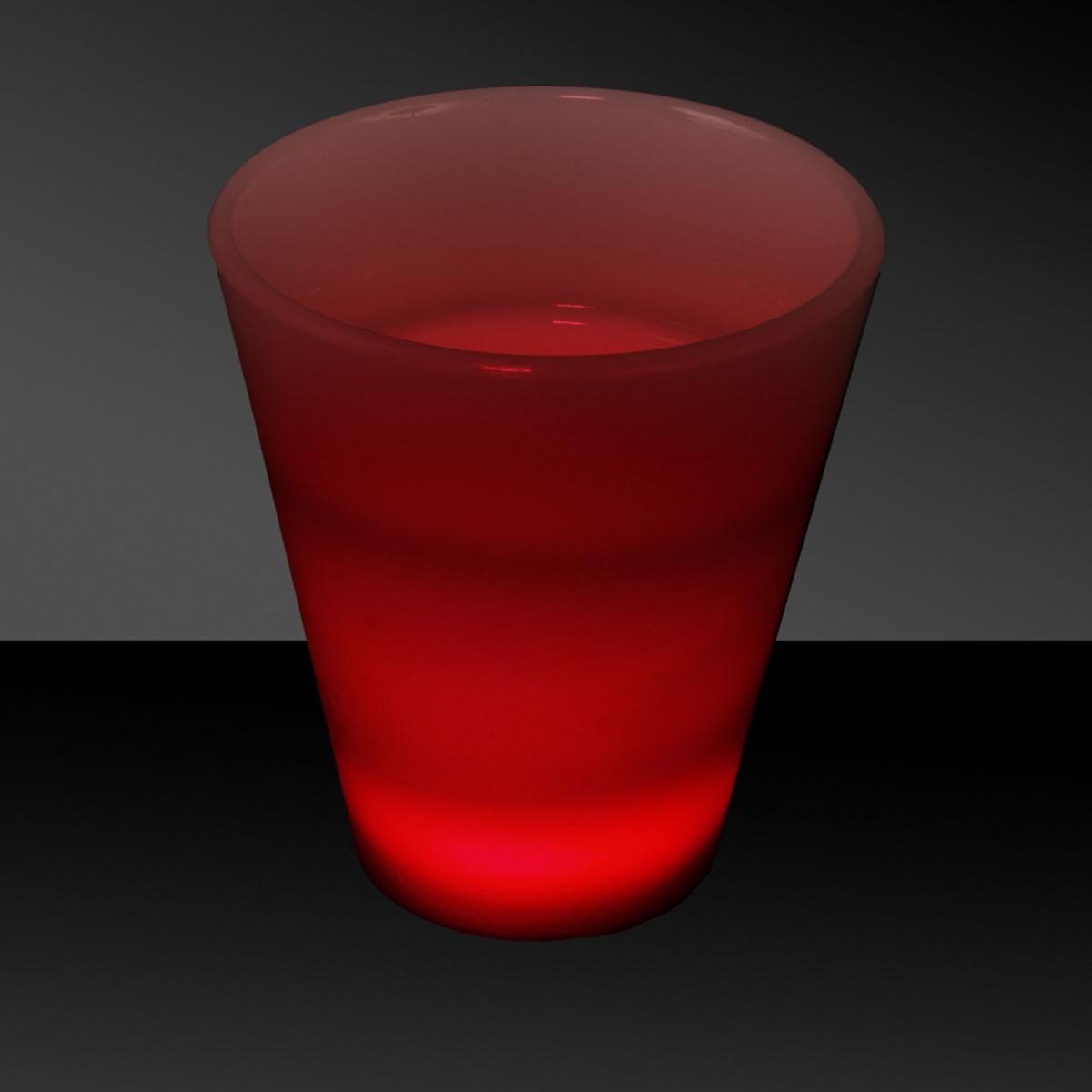 RED 2 OZ.NEON LOOK SHOT GLASS