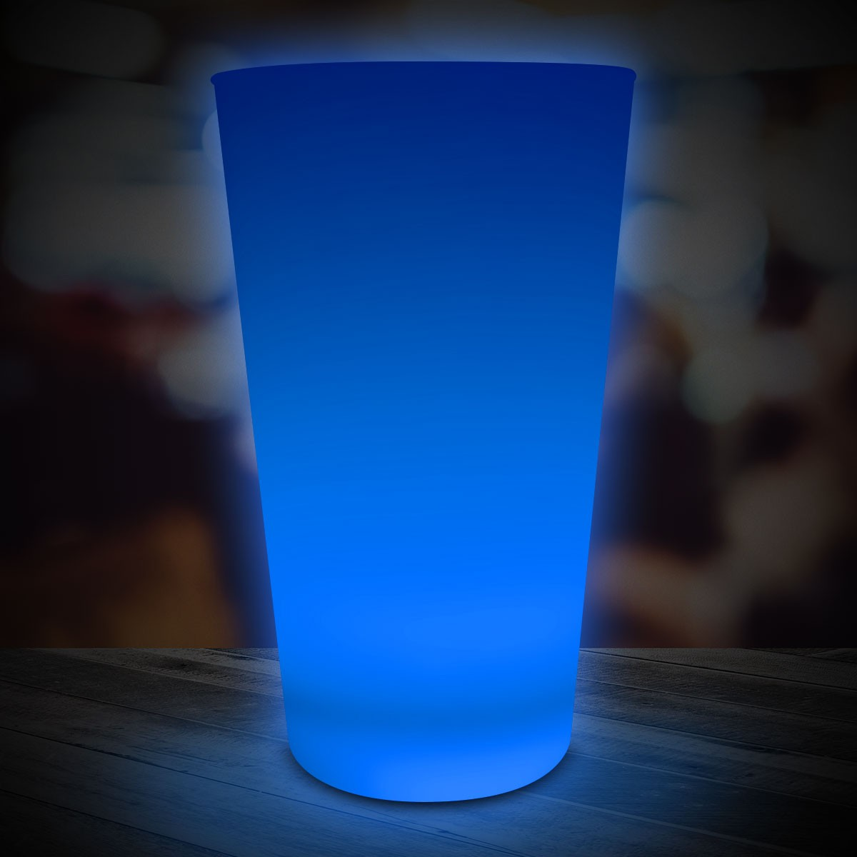 BLUE 16OZNEON LOOK PINT GLASS