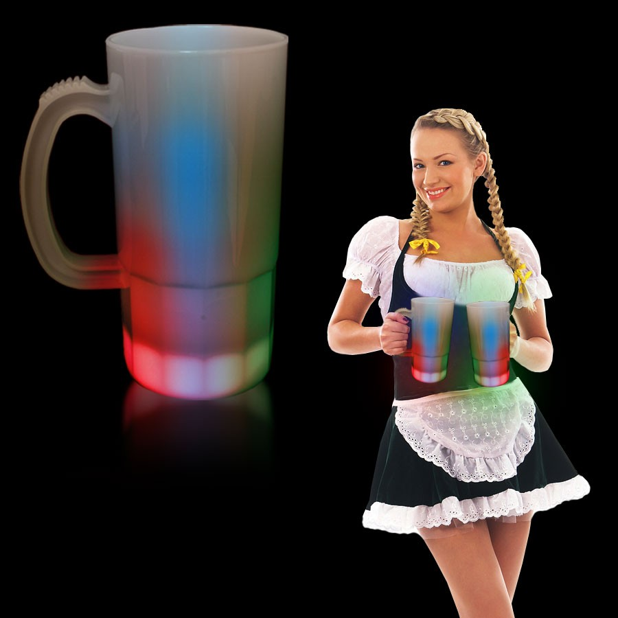 20OZ.MULTI NEON LOOK BEER MUG