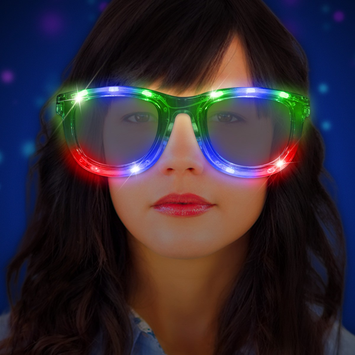JUMBO CLEAR-LED SUNGLASSES-LED