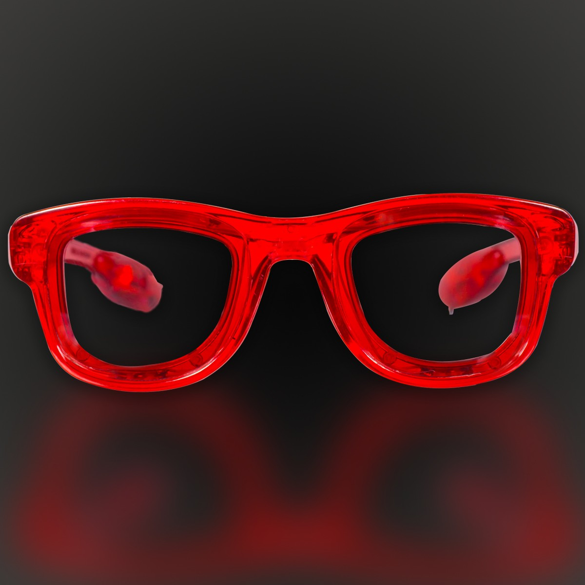 SQUARE LED SUNGLASSES - RED