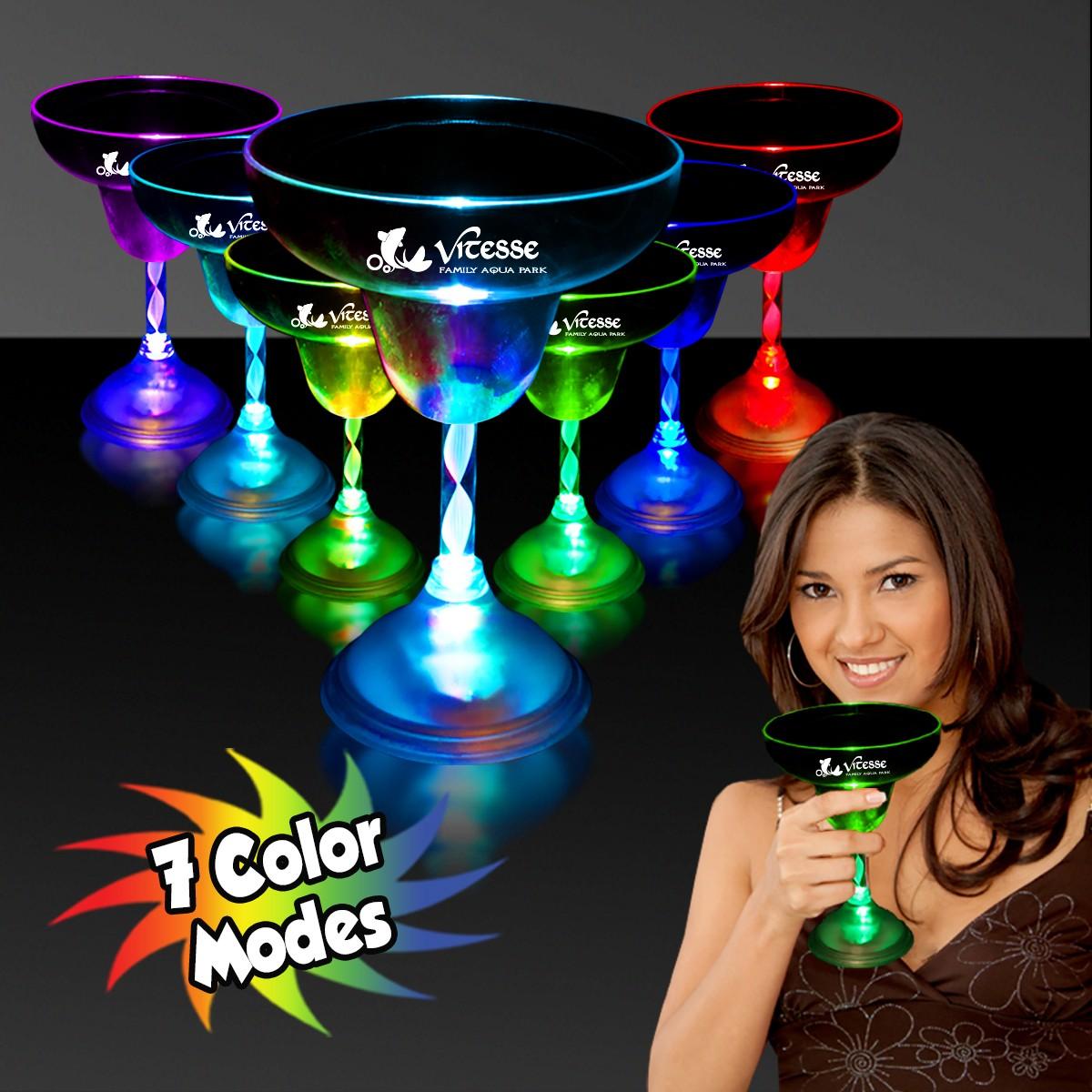 MARGARITA GLASS - 7 COLOR LED